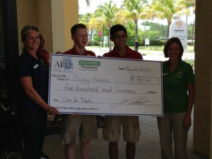 """Team """"Cause for Paws"""" Presenting Peggy Adams their check."""